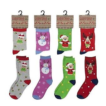 Kids Novelty Festive Xmas Christmas Gift Socks Size 4/6