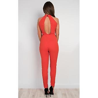 IKRUSH Womens Evie Lace Detail Jumpsuit