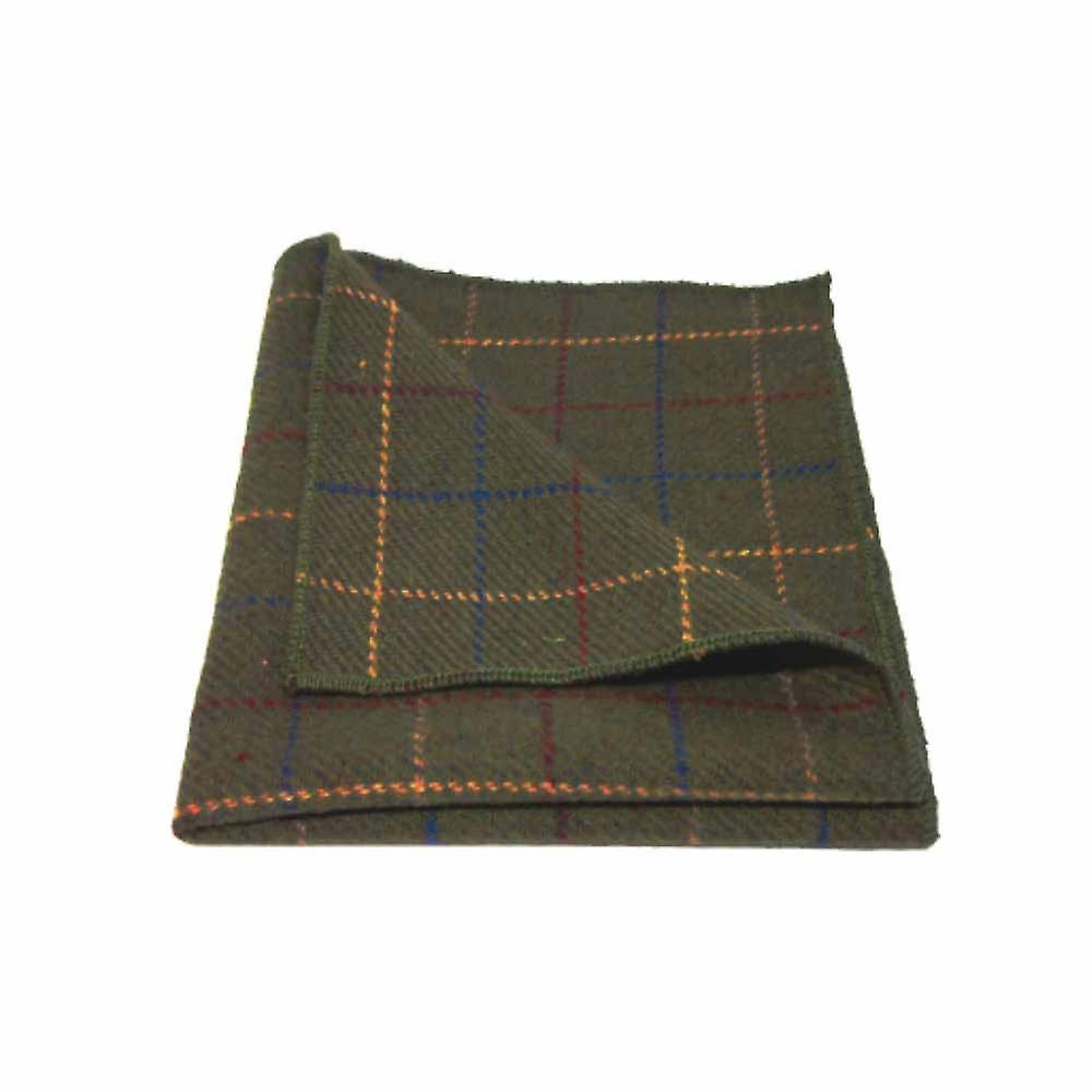 Heritage Check Regency Green Men's Tie & Pocket Square Set   Boxed
