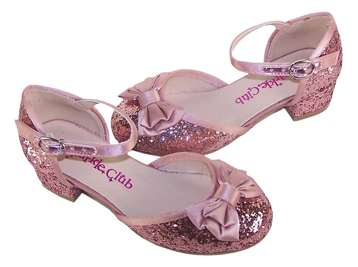 Girls dusky pink glitter heeled shoe and accessories gift set