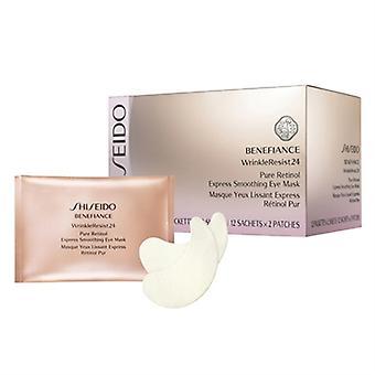 Shiseido Benefiance rynke motstå 24 Express utjevning øye maske 12 Packettes x 2