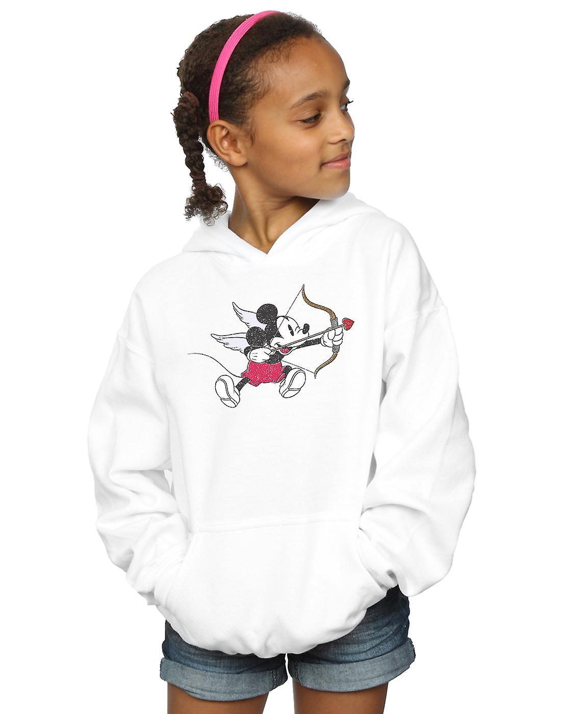 Disney Girls Mickey Mouse Love Cherub Hoodie