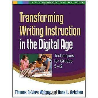 Transformatie schrijven instructie in het digitale tijdperk