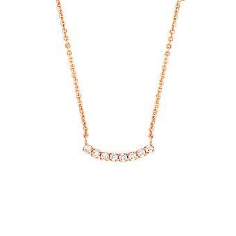 Bertha Juliet Collection Women's 18k RG Plated Tennis Fashion Necklace