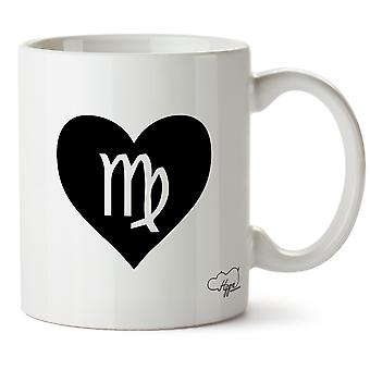 Hippowarehouse Heart Virgo Printed Mug Cup Ceramic 10oz
