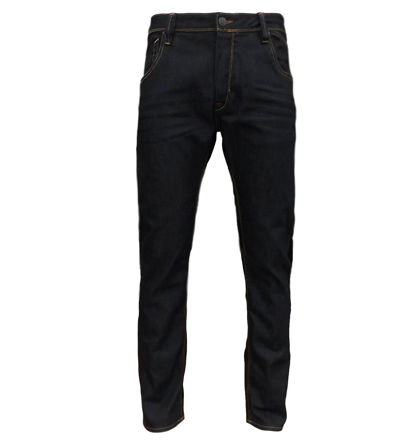 883 Police Men's Brade Rugby Slim Fit Straight Leg Button Fly Denim Jeans