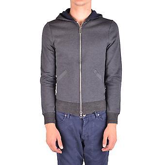 Paolo Pecora Ezbc059037 Men's Grey Cotton Sweatshirt