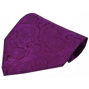 David Van Hagen Luxury Paisley Silk Handkerchief - Cerise