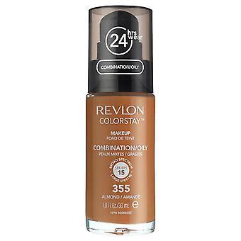 Revlon Colorstay Foundation för kombinerad/fet hud, #355 mandel