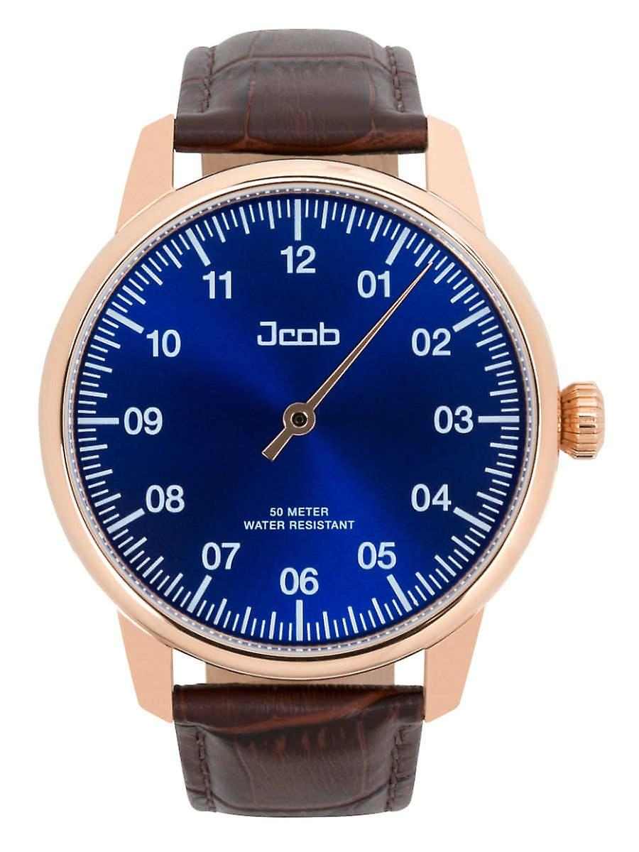 Einzeiger Jcw004-Lr01 Jcob Rosé Gold/Blue Mens Watch