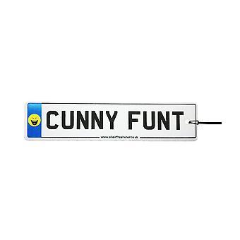 Cunny Funt Numberplate Car Air Freshener