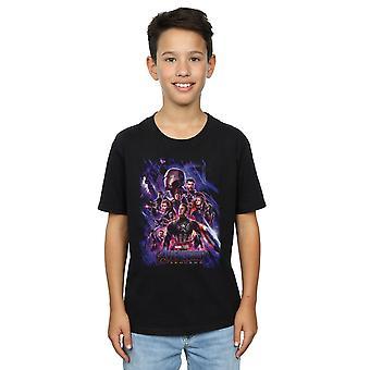 Marvel Boys Avengers Endgame Movie poster T-shirt