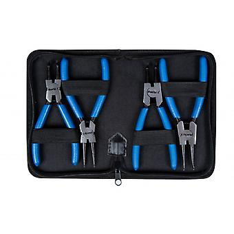 "Circlip Plier Set 4 Piece With Storage Wallet 6"" Snap Ring Pilers Straight"
