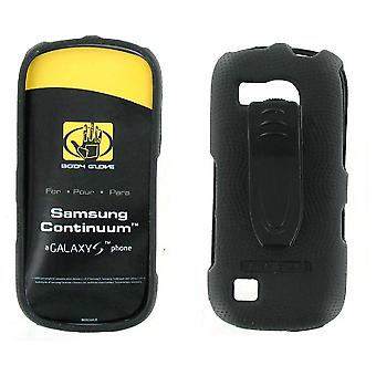 Guante corporal Snap On Funda para Samsung Continuum SCH-i400 (Galaxy S) - Negro (Bulk Packaging)