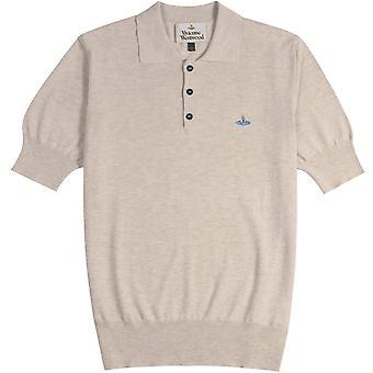 Vivienne Westwood Classic Knit Polo Shirt Cream