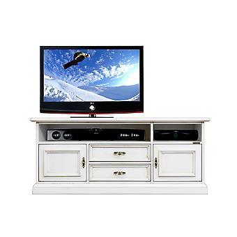 Low Mobile TV für Soundbar in lackiertem Holz