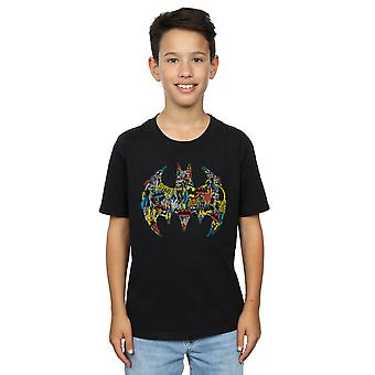 DC Comics Boys Batman Batgirl Logo Collage T-Shirt