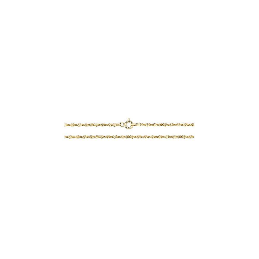 Eternity 9ct Gold 24'' Singapore Chain