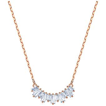 Swarovski Sunshine Necklace - White - Rose Gold Plating