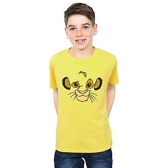 Disney Boys The Lion King Simba Face T-Shirt