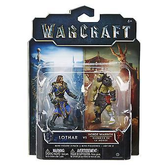 World Of Warcraft Mini Figure 2 Pack  Lothar Vs Horde Warrior