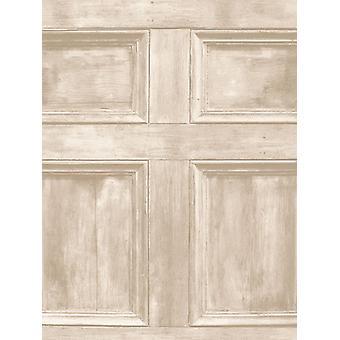Distinkt trä panel tapet grädde Fine Decor FD31054