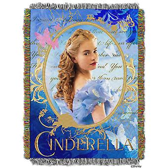 Tapestry Throw - Disney - Cinderella Movie Woven Blanket New 277885