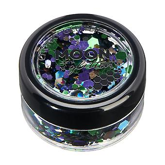 Mystic Chunky Glitter by Moon Glitter – 100% Cosmetic Glitter for Face, Body, Nails, Hair and Lips - 3g - Galaxy