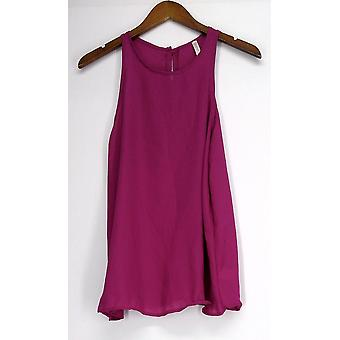 Lyss Loo Top At First Crush Sleeveless Blouse Bright Purple Womens