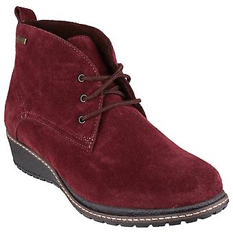 Cotswold Womens Prinknash Suede Ankle Boot Bordo