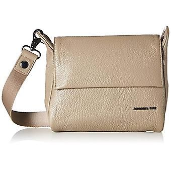 Mandarin Duck Mellow Leather Crossbody Bag Grey Woman Bag (Simply Taupe) 6x15x21 centimeters (B x H x T)