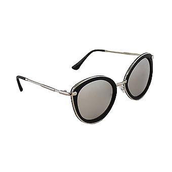 Sunglasses UV 400 Cat Eye silver Black ReflecterendHL179_4