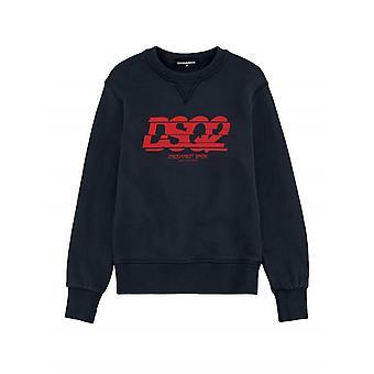 DSQUARED2 Kids Navy Slice Logo Sweatshirt