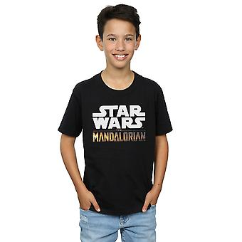 Star Wars Boys o logo Mandalorian T-shirt