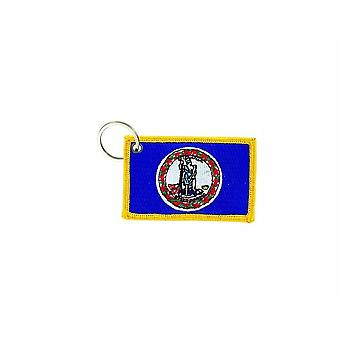 Cle Cles Key Brode Patch Ecusson Badge Bandiera Virginia USA America