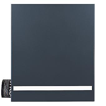 MOCAVI boîte 131 anthracite gris, boîte aux lettres de la conception, bande pas gravé gravure faite d'acier inoxydable, la production allemande, boîte de journal (RAL 7016)