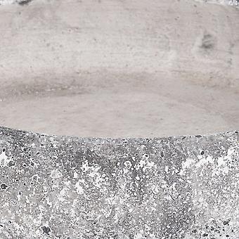 Hill Interiors Aged Stone Ceramic Shallow Planter