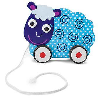 Push-n-Pull Swirly Sheep