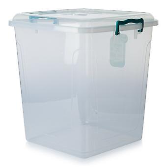 Hobby Life Pack Of 3 - 40 Litre Square Plastic Pantry Box
