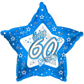 Creative Party Happy 60th Birthday Blue Star Balloon