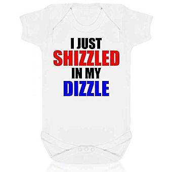 Olen vain shizzled minun Dizzle lyhythihainen babygrow