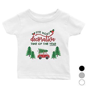 Dekoracyjne Boże Narodzenie Czas Cute Baby Shirt X-mas Present