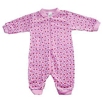 Pyjamas insgesamt mit Blüten Rosa/Lila, 56 cl