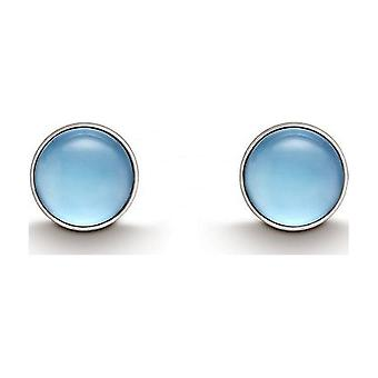 QUINN - Stud earrings (pair) - silver - gemstone - blue topas - 36180958