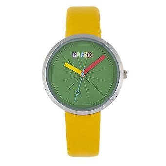 Crayo Metric Unisex Watch - Yellow