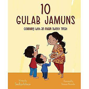 10 Gulab Jamuns: zählen mit einer indische Süßigkeit