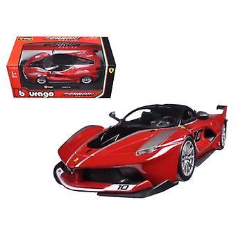 Ferrari Racing FXX-K #10 Red 1/24 Diecast Model Car par Bburago