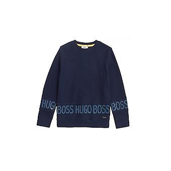 Hugo Boss Boys Hugo Boss Kids Blue Sweatshirt