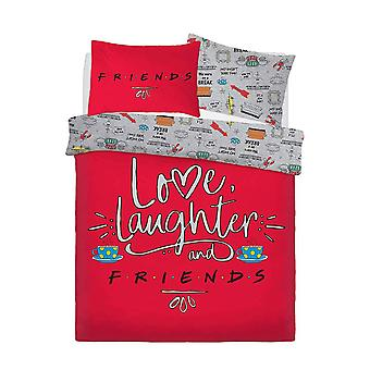 Friends Love Laughter Bedding Set