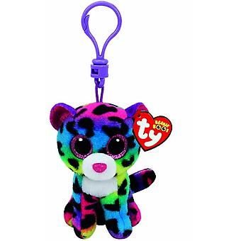 TY Keyclip Beanie Boos Dotty The Leopard